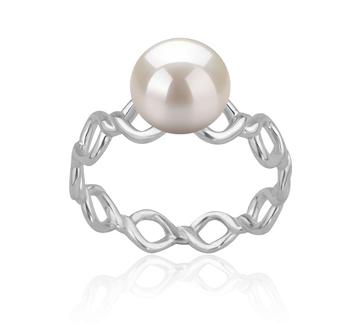 Wave Bianco 7-8mm Qualità AAAA - Anello Perla di Acqua Dolce - Argento Sterling 925