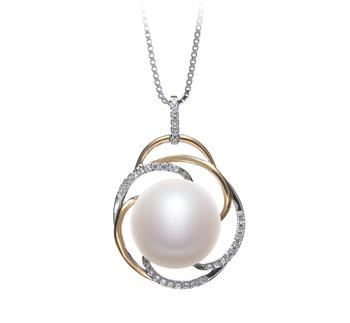 Zina Bianco 12-13mm Qualità AA - Perla Pendente di Acqua Dolce - Argento Sterling 925