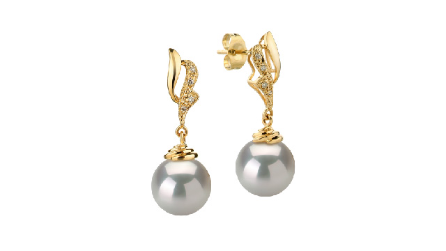 View White South Sea Pearl Earrings collection